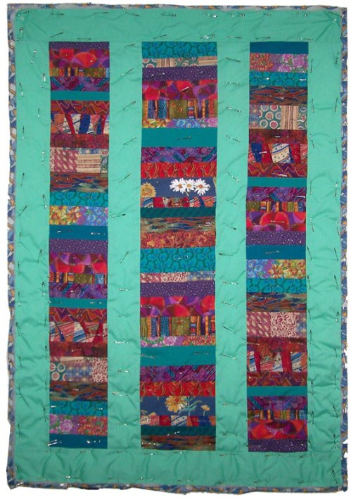 Joshua's quilt pin-basted